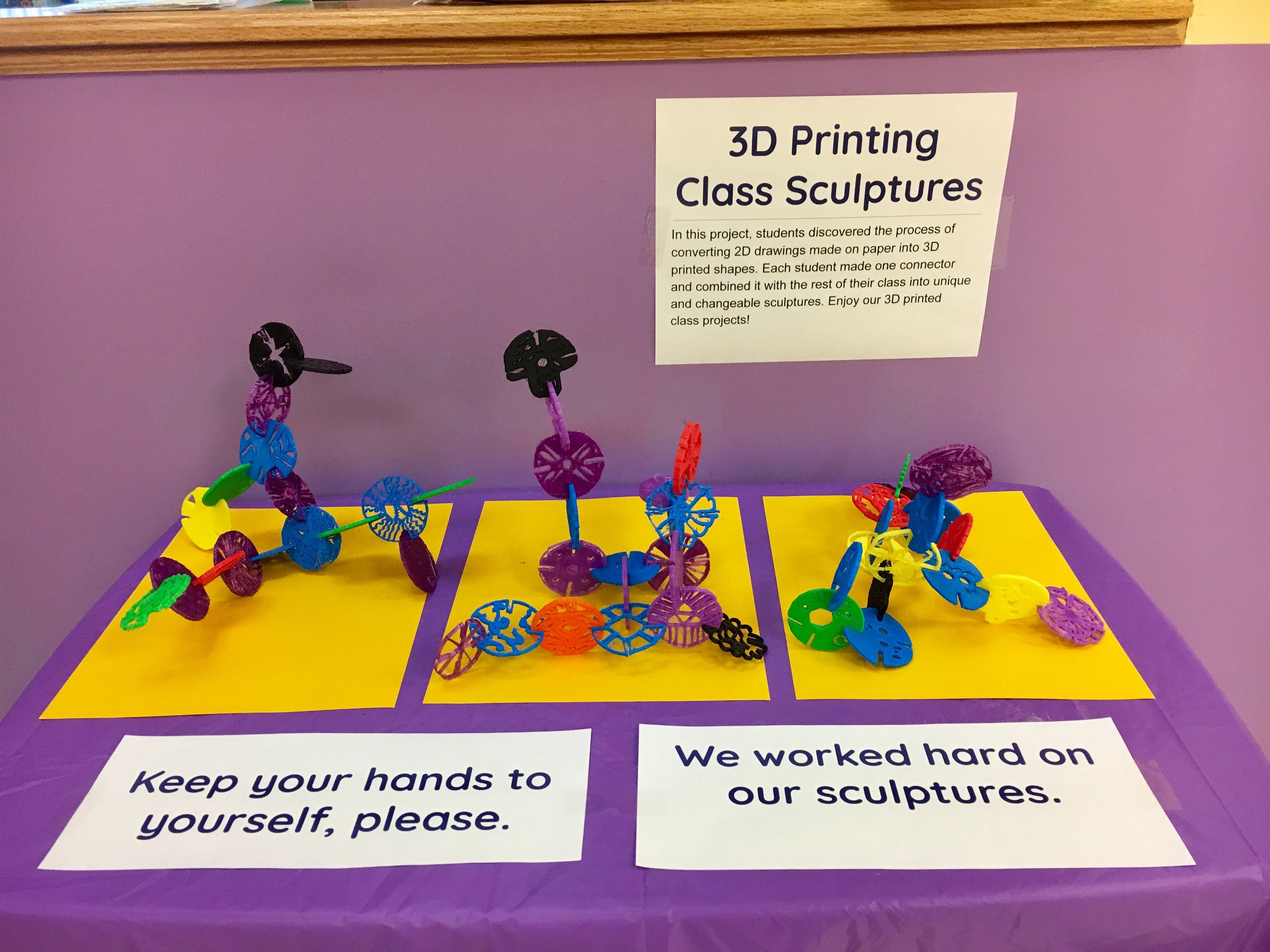 3D Printing - Art Sculptures - Triangle Day School - A co-ed