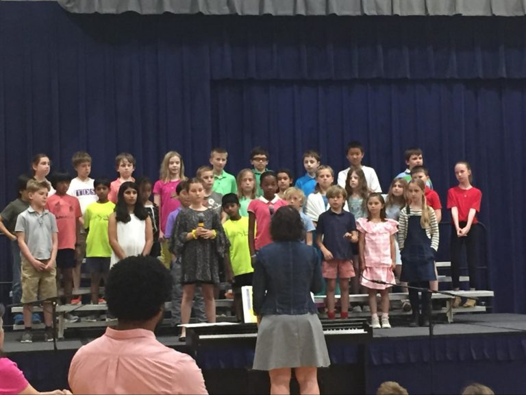 First graders participate in the Spring Concert