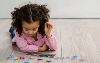 girl with puzzle