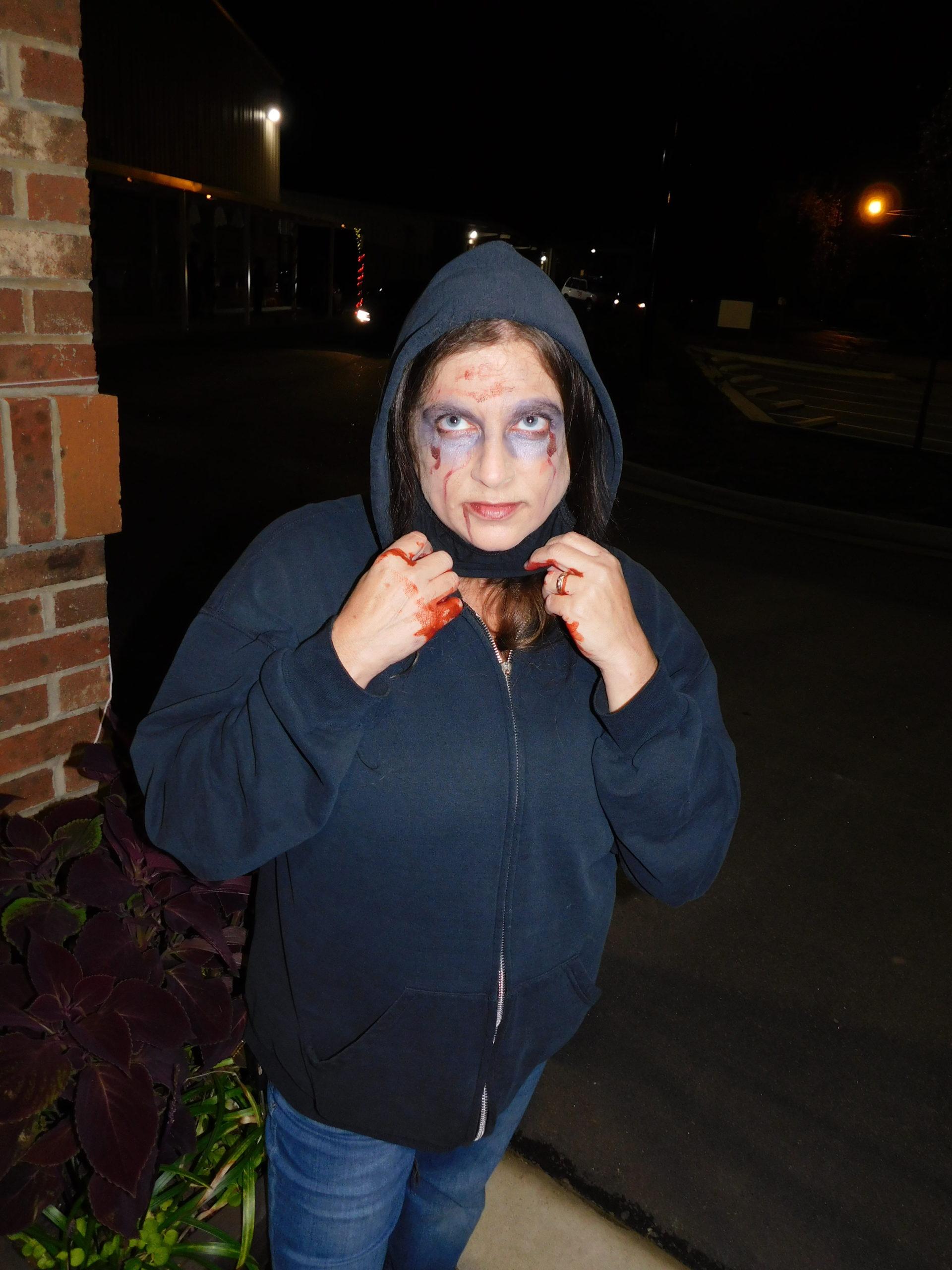Mrs. Lazar's zombie face