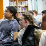 Students watch a documentary about the Chapel Hill Nine, Greensboro Sit-Ins, and the Triangle Civil Rights Movement