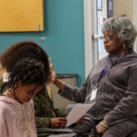 Faye Alston answers students' questions about her involvement and experience