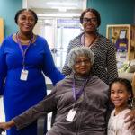 Danita Mason-Hogans, Faye Alston, her daughter, and god-daughter, Jessica
